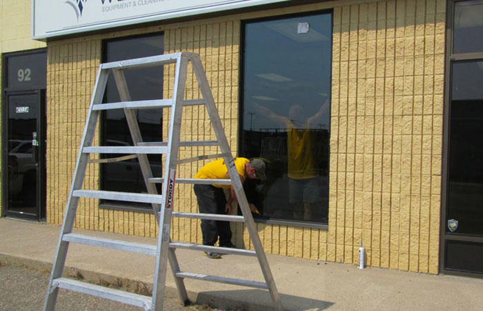 Commercial window installation by RAM Exteriors