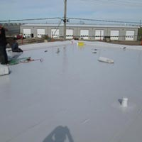 A Duro-Last roofing job at Redcliff Mall