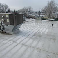A Duro-last roof installation at Subway