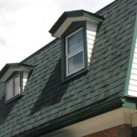 A shingle roof installed by RAM Exteriors